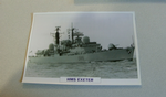 1976 HMS Exeter Destroyer  warship framed picture
